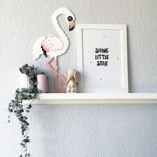 hama boncuğu flamingo