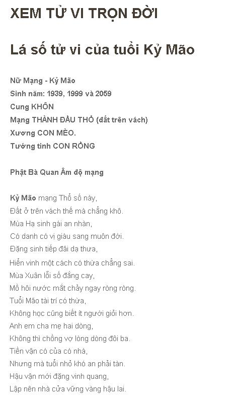 Tu Vi Tron Doi Ky Mao Nu Mang
