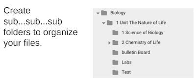 Create sub folders to organize your files.