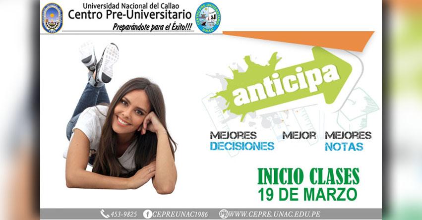 CEPRE-UNAC Inscripción 2018-1 (Inicio de Clases 19 Marzo) Centro Pre Universitario de la Universidad Nacional del Callao - www.cepre.unac.edu.pe | www.unac.edu.pe
