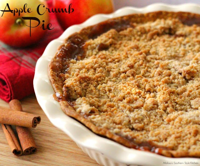 Apple Crumb Pie recipe from Melissa's Southern Style Kitchen