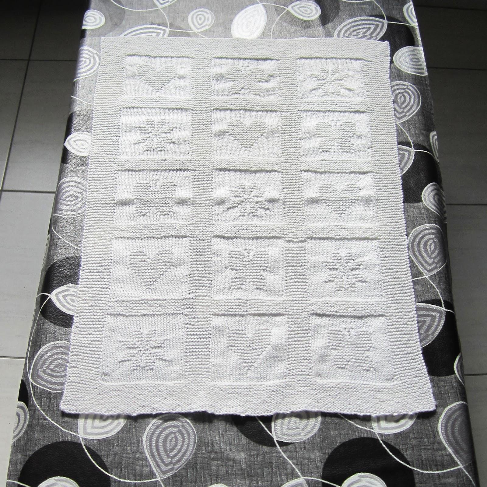 Une couverture au tricot pour b b l 39 atelier acidul - Couverture en laine bebe ...