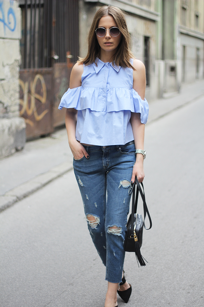 Fashion And Style Blue Shirt