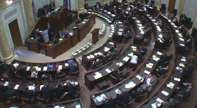 the Arkansas House of Representatives chamber at the State Capitol