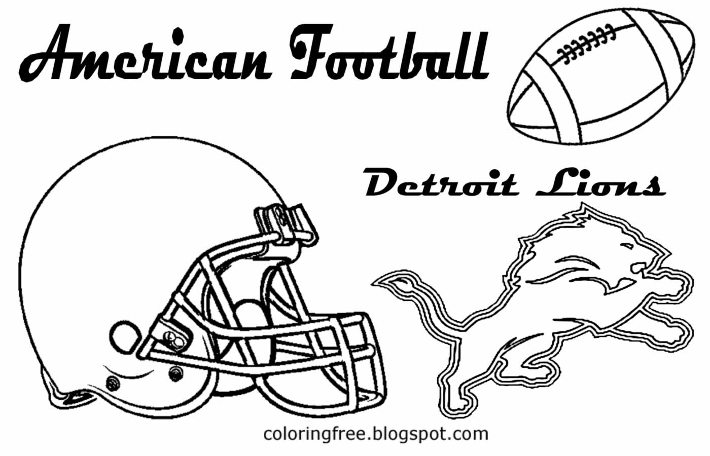 Best HD Sports Coloring Pages For Boys Football Library