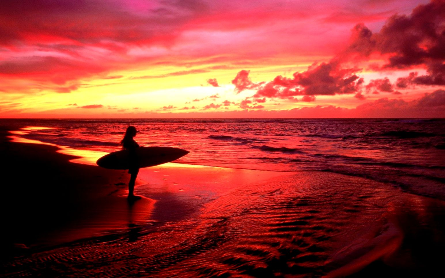 Surfing Sunset Hd Wallpapers Wallpapers Engine