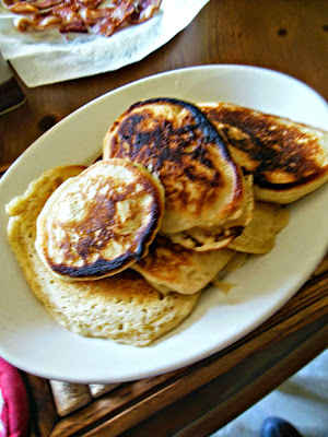 You do not need a separate pancake mix, use you own homemade self rising flour for great whole grain pancakes.