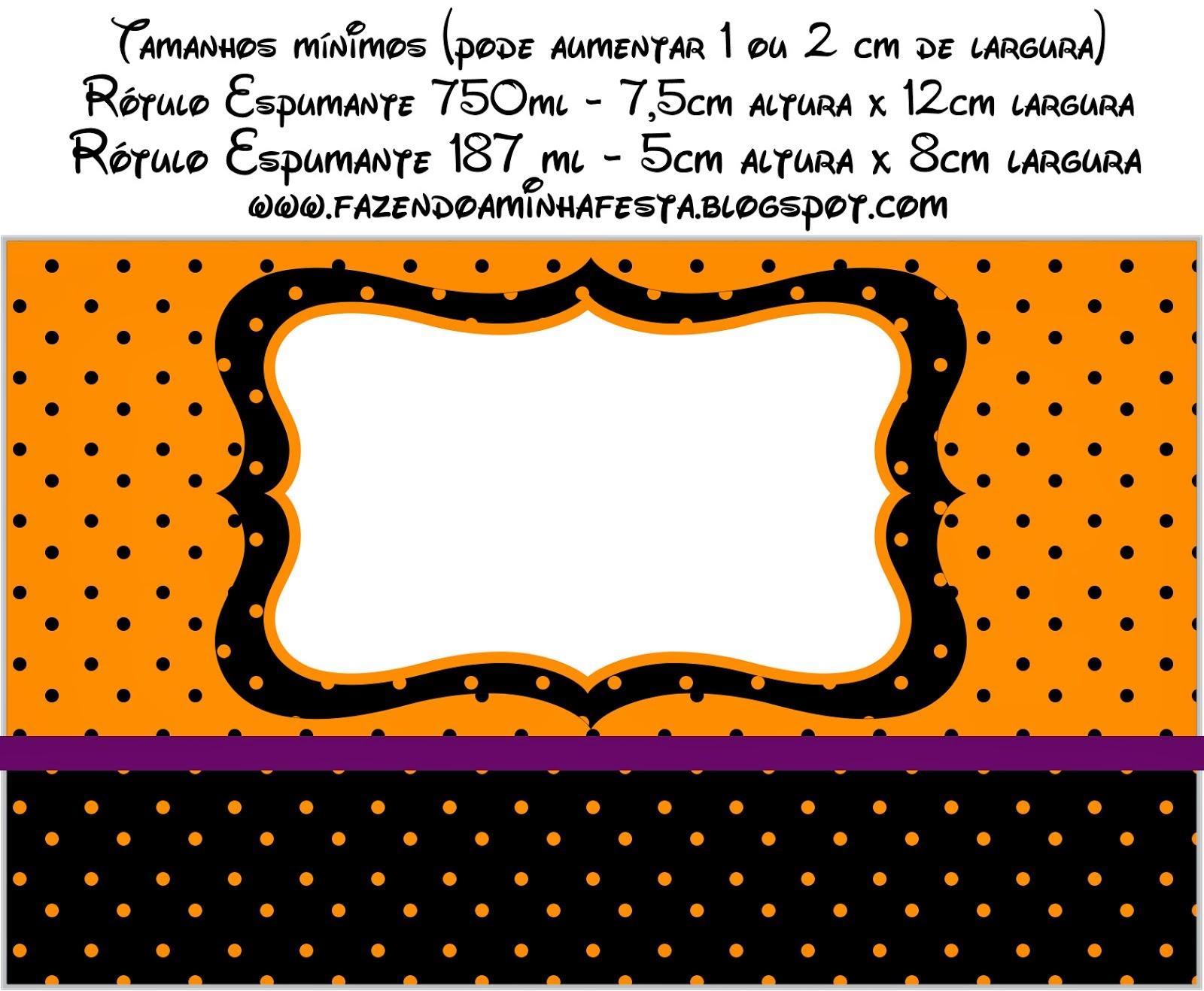 Naranja, Negro y Morado: Etiquetas para Candy Bar para Imprimir ...