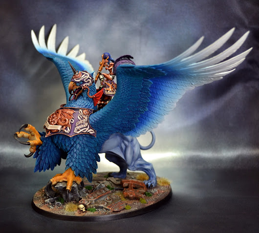 Miniature Monday: Freeguild General on a Griffon