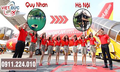 vé máy bay giá rẻ từ Quy Nhơn đi Hà Nội hãng Vietjet Air
