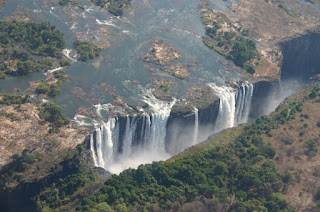 Victoria Falls is a 5,600-foot wide waterfall