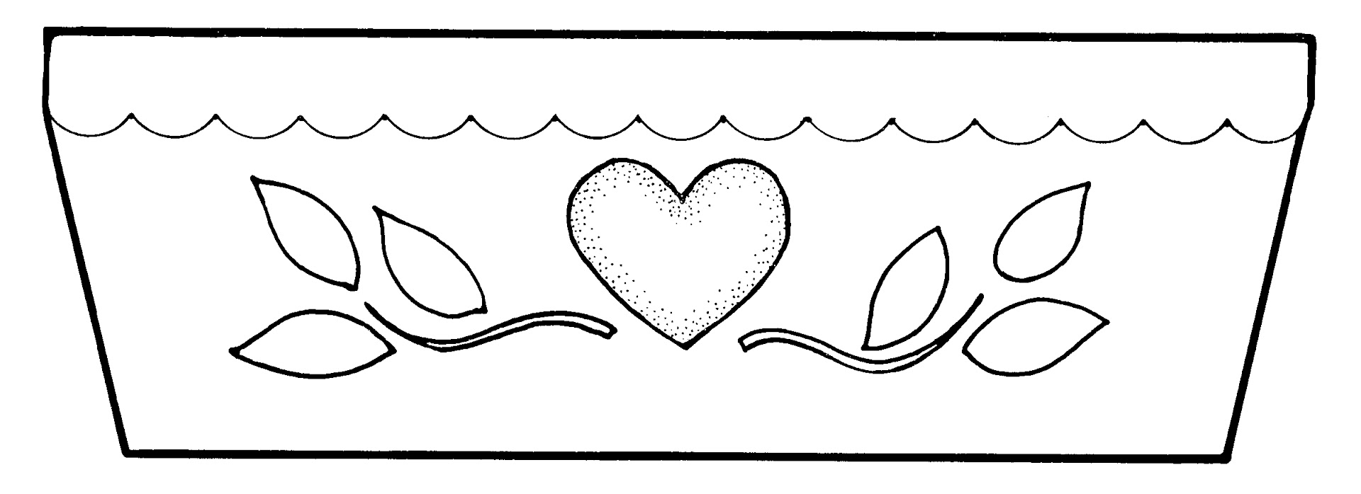 Flower Pot Page Empty Coloring Pages
