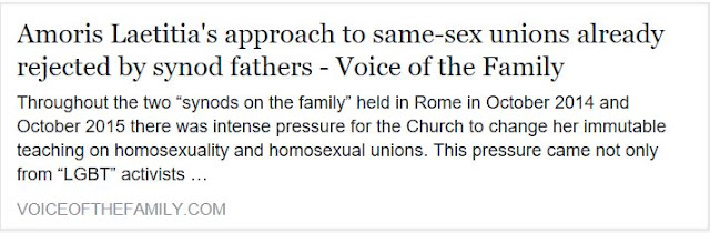 http://voiceofthefamily.com/amoris-laetitias-approach-to-same-sex-unions-already-rejected-by-synod-fathers/