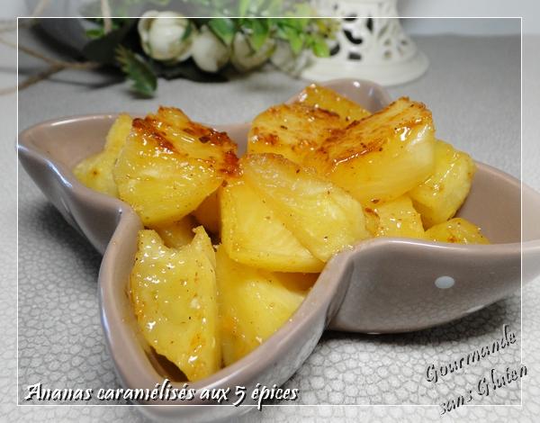 ananas caramélisé 5 épices