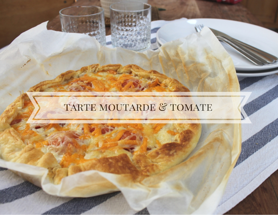mandy bla bla recette tarte la moutarde et la tomate. Black Bedroom Furniture Sets. Home Design Ideas