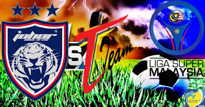 Live Streaming T-Team vs JDT FC Liga Super 22 Julai 2017