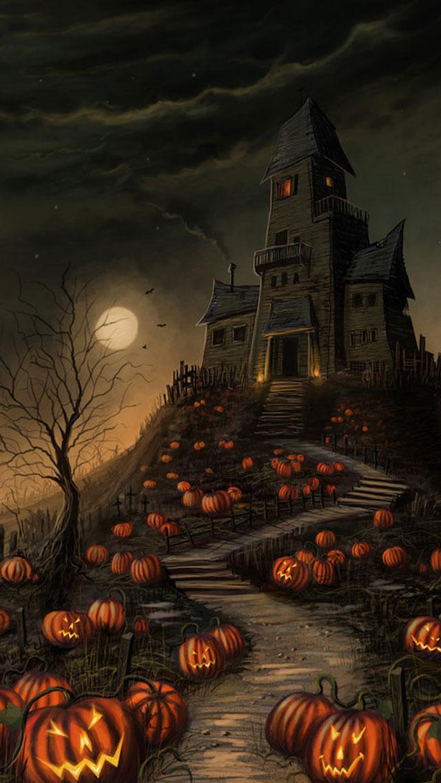 Happy Halloween Hd Wallpaper Iphone 6 Plus 55c Ipad 2