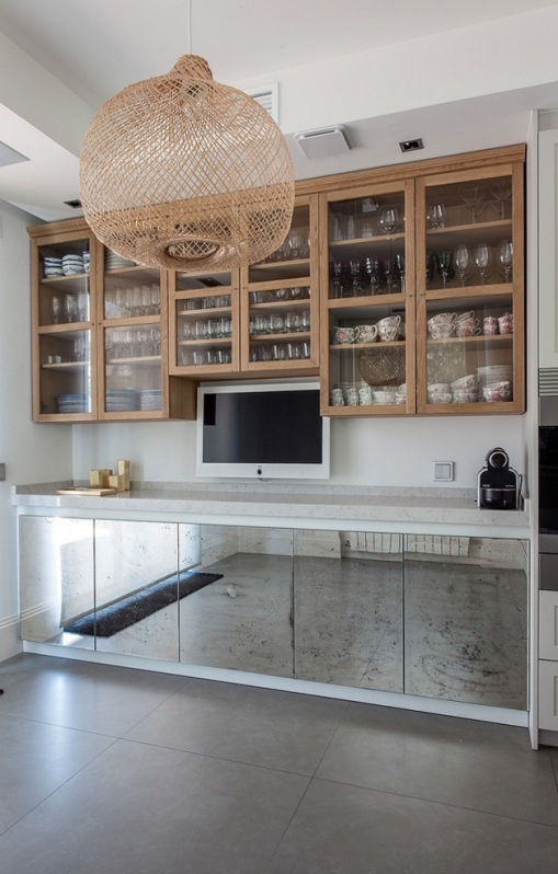 frontales de mueble de cocina con espejo envejecido chicanddeco