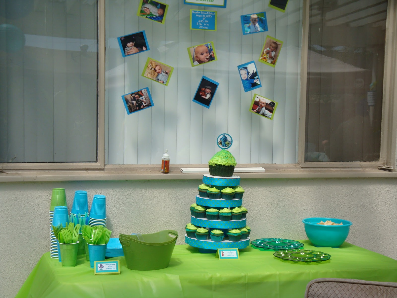 Cc Party Planners Brayden S 1st Birthday Monster S Inc