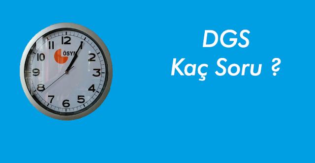 2019 DGS Kaç Soru