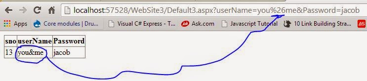How to pass ampersand in query string parameter in ASP.NET