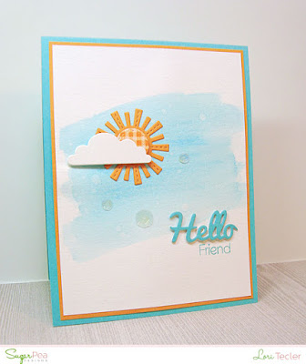 Hello Friend card-designed by Lori Tecler/Inking Aloud-stamps and dies from SugarPea Designs