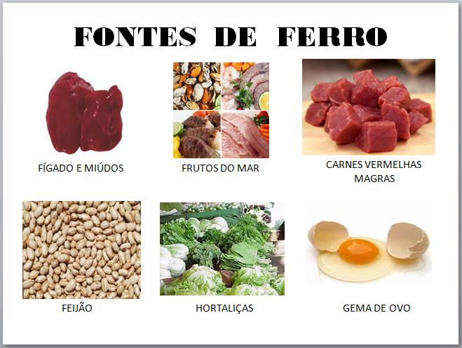 alimentos ricos em ferro para anemia