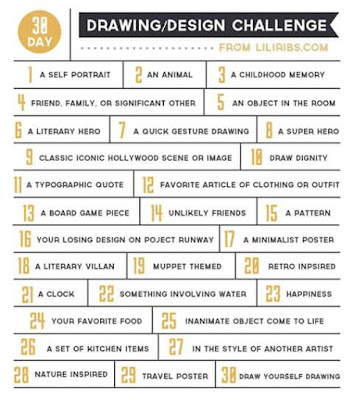 30-day drawing/design challenge