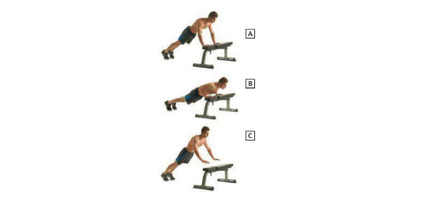 Elevated Plyometric Pushup