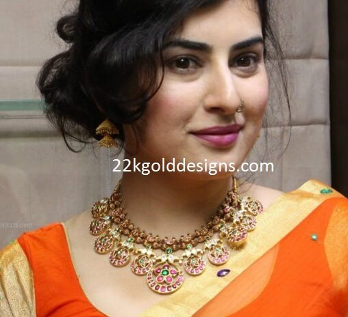 Actress Archana in Antique Ruby Bottumala