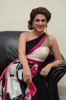 Actress Shraddha Das Latest Stills in Stylish Dress at tur Talkies Audio Launch  0033.jpg