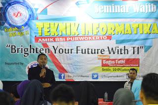 BSI Purwokerto Adakan Seminar Berbasis Teknologi Informasi