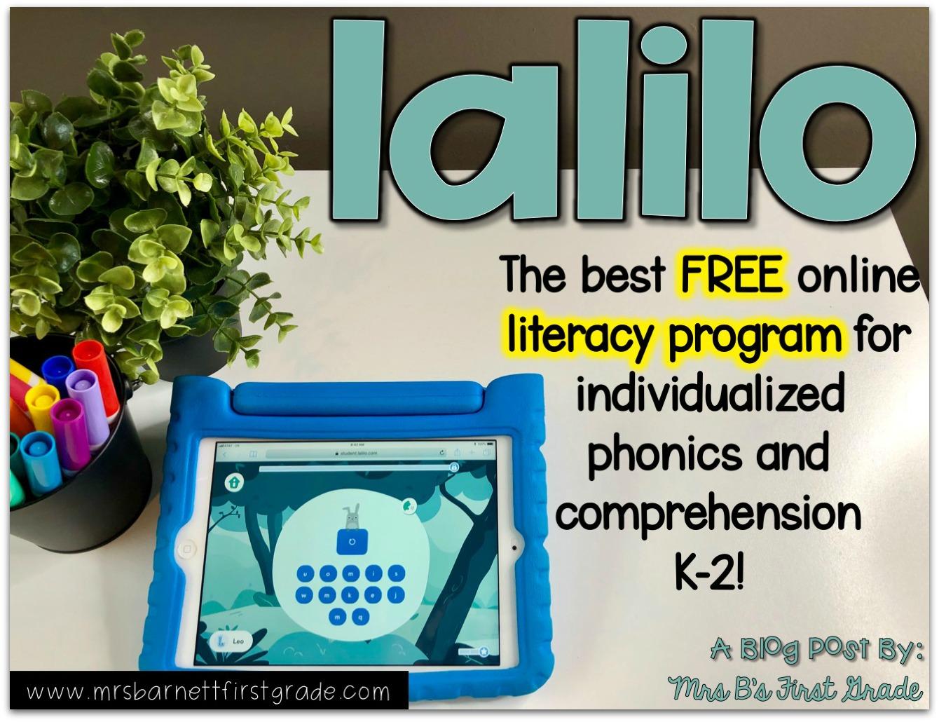 Lalilo - FREE Literacy Instruction - Mrs  B's First Grade