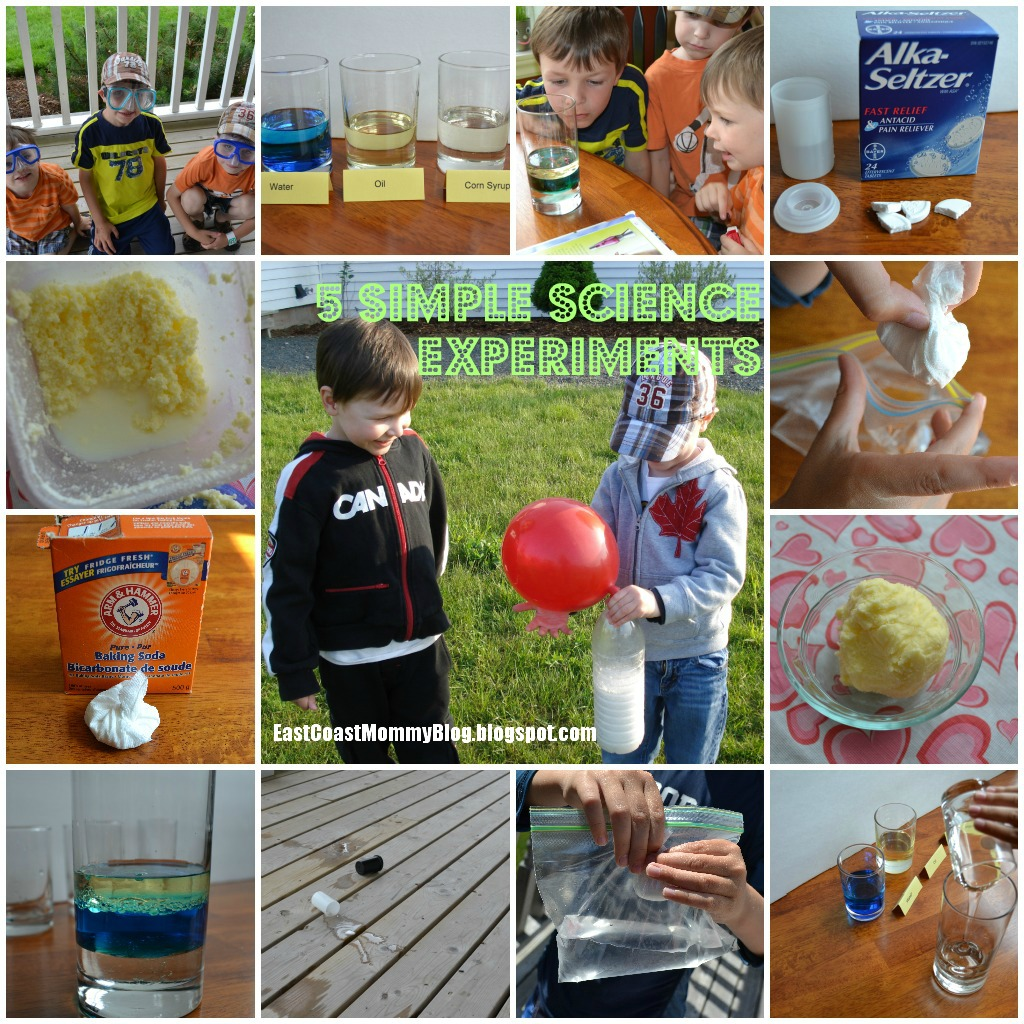 East Coast Mommy 5 Easy Science Experiments For Kids