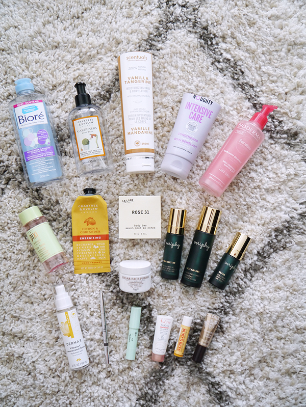 Round-up of 18 empty personal grooming, skincare, body and hair care and beauty products