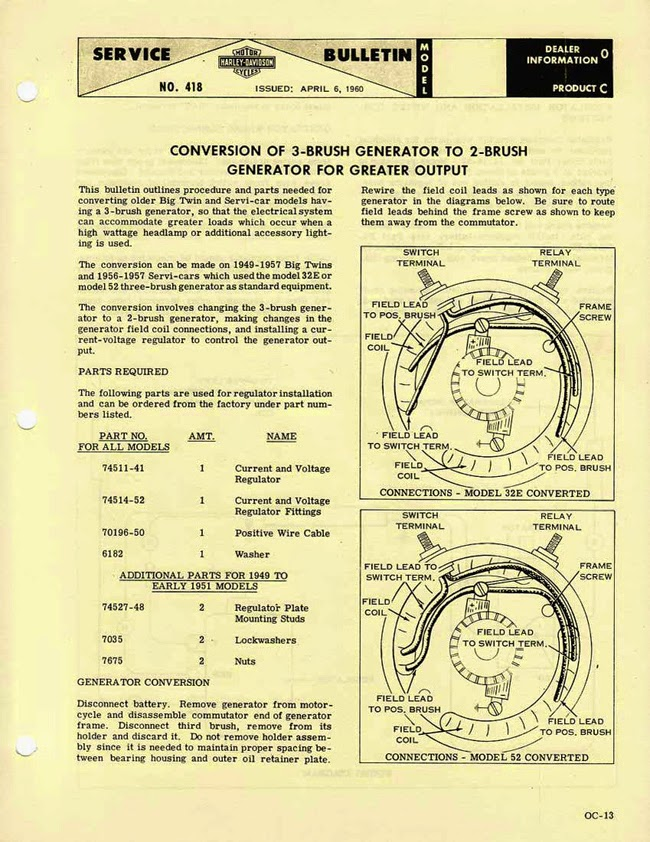 6 volt to 12 conversion wiring diagram 240 motor perry ruiter's generator rebuild and 2-brush ~ riding vintage