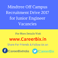 Mindtree Off Campus Recruitment Drive 2017 for Junior Engineer Vacancies