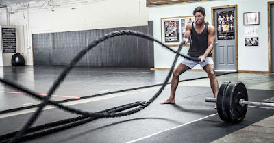 battling rope exercise
