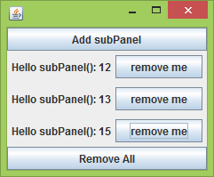 Add and Remove UI components dynamically