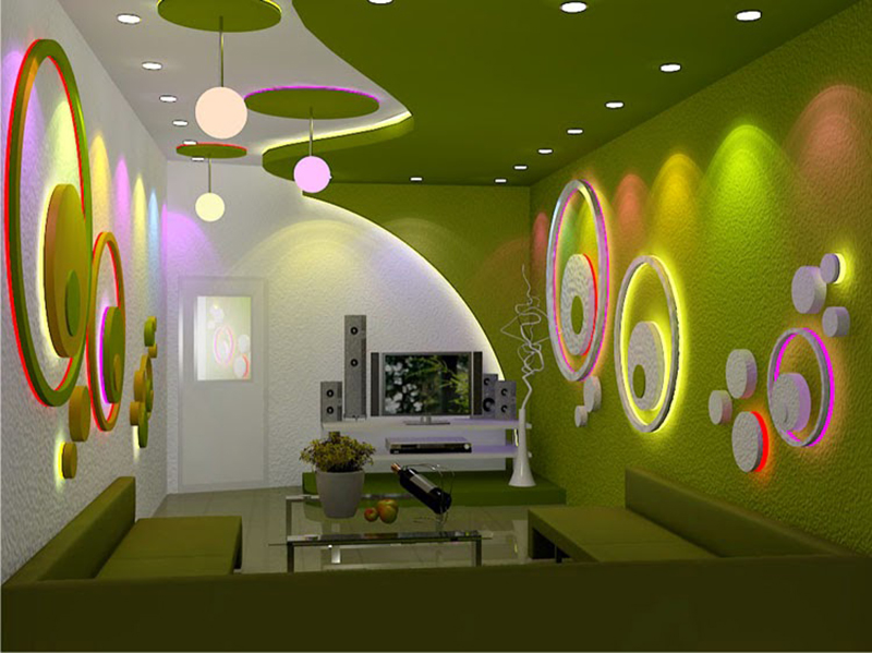Rooms Styles From Our Latest Catalog: 40 Latest Gypsum Board False Ceiling Designs With LED