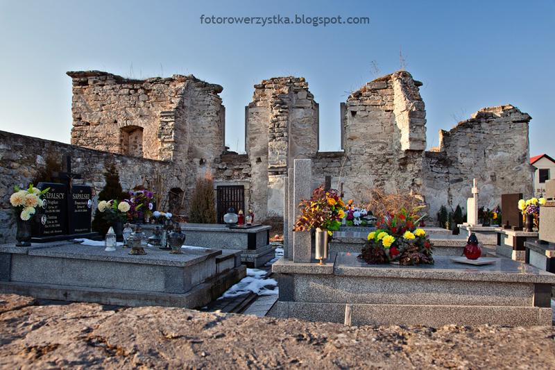 Szydłów, ruiny, kościół i szpital Świętego Ducha , świętokrzyskie