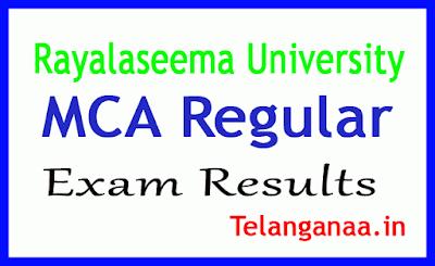Rayalaseema University MCA Regular Exam Results