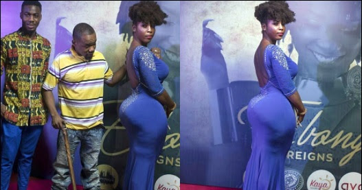 "(Photos) Moment Endowed Ghanaian Lady Shut Down The Red Carpet With Her Massive ""Ukwu"""