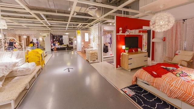 Móveis na loja Ikea em Miami