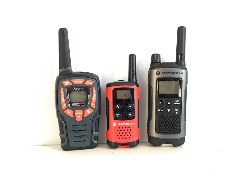 [Image: Photo with three different walkie-talkies.]
