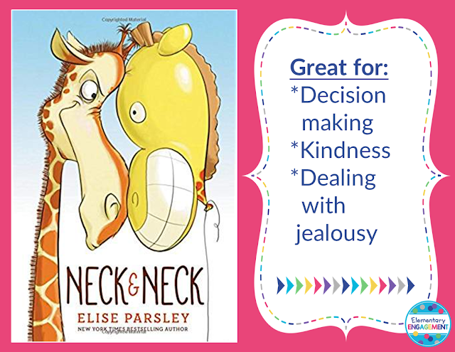 Neck & Neck is a great book about making decisions and dealing with jealousy.  It makes a great read aloud for the beginning of the year!
