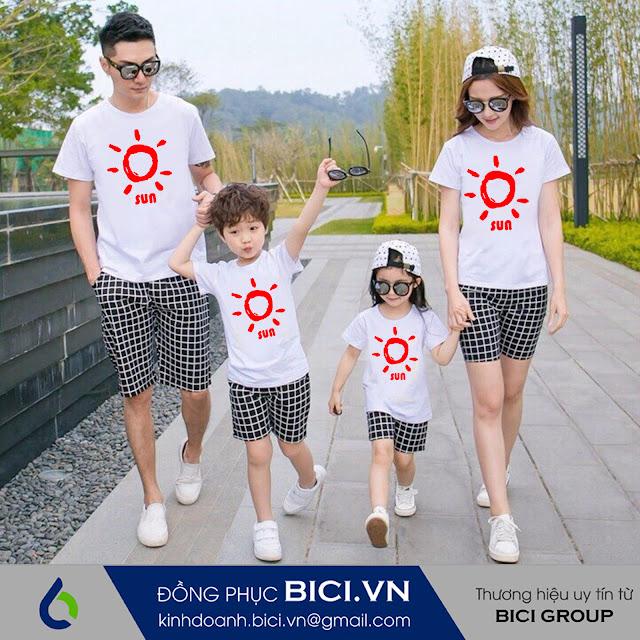 mẫu áo đồng phục gia đình 8
