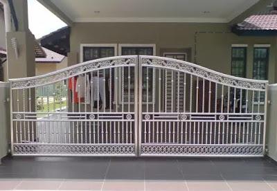 desain model pagar stainless steel terbaru