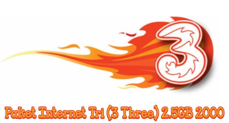 Trik Daftar Paket Tri (3 Three) 2.5GB 2000 Terbaru