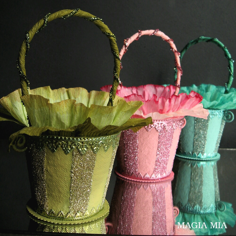 Magia Mia: Colorful Spring Baskets from Peat Pots with ...